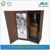 Het geraffineerde Chinese Vakje van de Gift van de Fluit van Champagne van de Luxe van de Douane van het Pakket van het Document van de Wijn