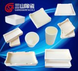 Crogiolo dell'allumina per il laboratorio e la ceramica di sinterizzazione