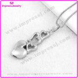 Inneres Reihen-Edelstahl-Verbrennung-in der hängenden Erinnerungsurne-Halskette verascht Andenken-Halter (IJD9776)