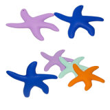 New Style Starfish Design Baby Teether Food-Grade Silicone Baby Teether