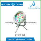 RGB3in1 luz subaquática da associação do diodo emissor de luz do ponto do aço inoxidável 9W