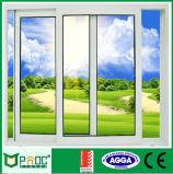 Fenêtre coulissante en aluminium à simple vitrage avec prix bon marché