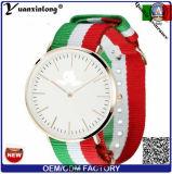 Пользовательские-491 Yxl Дизайн логотипа полосой Нейлоновый ремень НАТО часы мужчин марки Quartz Fashion Sport пару леди наручные часы Wristwatch