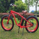 Bicicleta elétrica do cruzador gordo popular quente da praia do pneumático
