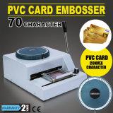 中国の製造の70文字手動PVCカードの浮彫りになる機械