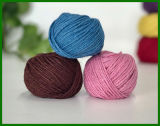 Fio de fibra de juta de 3ply Dyed
