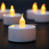 Желтая свечка СИД Tealight для приведенной в действие батареи декора Cr2032 партии Chismas -