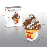 14889225-Micro Kit bloque de comida Bloques serie el grupo educativo creativo de bricolaje juguete 240PCS - helado