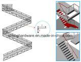 HD-044 movible, barandilla moderna de la barandilla al aire libre del balcón de la barandilla del diseño de la escalera