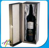 Un contenitore impaccante del regalo della bottiglia di vino di legno su ordinazione del documento