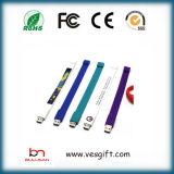 크리스마스 선물 관례 PVC USB 섬광 드라이브 팔찌