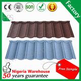 Feuilles enduites de toiture de construction de matériau de toiture de pierre colorée légère de tuile