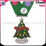 Medallas de encargo de plata brillantes del brillo del copo de nieve de la fábrica china