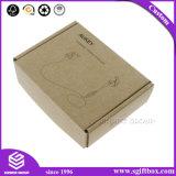 De eenvoudige Elektronische Toebehoren van het Karton van het Ontwerp Vouwbare Geplaatst de Verpakkende Doos van de Gift met Afgedrukt Embleem
