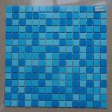 Mosaico di vetro blu profondo quadrato di piccola dimensione di spessore 4mm per il disegno del raggruppamento