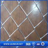 Frontière de sécurité enduite et galvanisée de PVC de chaîne de maillon