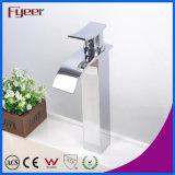 Fyeer Crooked corps carré de la tuyère haute cascade Bassin de lavage Eau de robinet simple robinet mélangeur