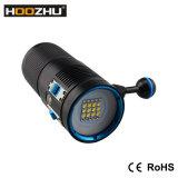 新しいHoozhu V72水中ビデオ軽い最大7200lmおよびWatrproof 100m LEDのトーチ