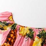 Premiers modèles hawaïens de chemisier de collet de bateau de chemisier des plus défuntes filles de modèle