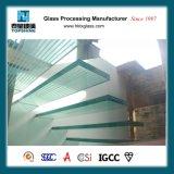 Лестница безопасности высокого качества анти- направляя рельсами стеклянная, Tempered прокатанное стекло лестницы пола для гостиницы