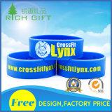 Wristbands feitos sob encomenda Infilled do silicone da forma da tinta com logotipo da fé da esperança