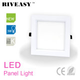 3W Square Shape Corner Acrylic LED Light Panel com Ce e RoHS LED Painel de lâmpada