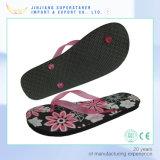 Flop Flip женщин PE плоский с печатание цветка Insole в стиле фанк