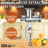 Extrator vegetal do Juicer da fruta da grama manual do trigo