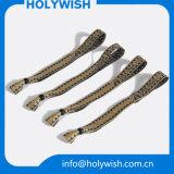 Eingangwristband-Form-GewebeWristbands mit Metalschliessen
