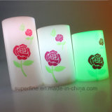 Candela di plastica decorativa di natale senza fiamma elettrico LED con la funzione del temporizzatore