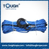 파란 색깔 8mmx28muhwmpe 밧줄 윈치 합성 물질 밧줄