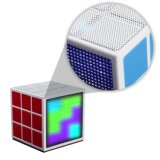 36 de Mini Draadloze Spreker Bluetooth van de LEIDENE Kubus van Lichte Rubik (Oita-6625A)