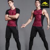 Parti superiori strette del Mens, Shorts & pantaloni lunghi di Legging gli insiemi delle 3 parti