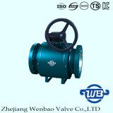Trunnion фланца установил польностью сваренный шариковый клапан для индустрии 300lb