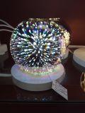 Luz LED 3D de vidrio para la decoración del hogar