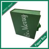La couleur verte Boîte en carton avec du ruban de papier magnétique