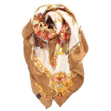 Sciarpa di seta lunga stampata controllata di modo viscoso delle donne