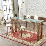 Diseño de lujo baratos barra alta juego de mesa y silla