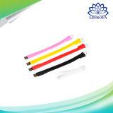 Des Wristband-Silikon USB-2.0 Feder-Laufwerk 32GB/64GB Feder-Laufwerk-U der Platte-4GB/8GB/16GB USB-Laufwerk-Speicher-Stock