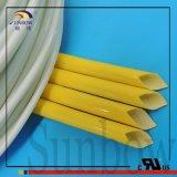 Tube tressé enduit de silicone flexible résistant Sb-SGS-25 de fibres de verre de température élevée