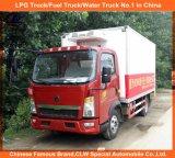 3tons冷たい飲み物冷却装置トラックのためのSinotruckのフリーザーヴァン