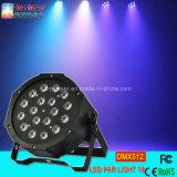 Luz de par de LED 18 PCS*1W luz de LED RGB de estágio de luz PAR Spooboola plana