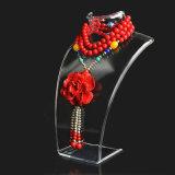 Présentoir pendant de mannequin de bijou acrylique de collier