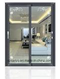 Раздвижная дверь коммерчески зданий двойная стеклянная алюминиевая с австралийцем