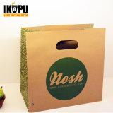 Sacs en papier de achat d'usine de sacs à provisions de sacs en papier directs de Brown Papier d'emballage tordus