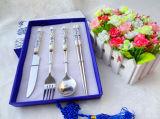 Керамический Cutlery нержавеющей стали ручки установил/комплект Flatware