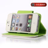 La caja del teléfono de la cubierta del cuero de Fiip para el iPhone puede ser Customiz