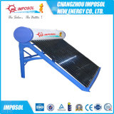 Calefator de água solar imediato da pressão de câmara de ar de vácuo da tubulação de calor
