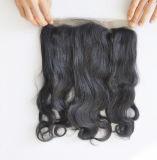 Cheveu humain brésilien 22.5 de Vierge x 4 x 2 frontal de lacet de l'onde 360 de corps de soie avec la bande élastique Lbh 288