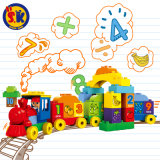 Детей пластиковые номер поезда блоки игрушка